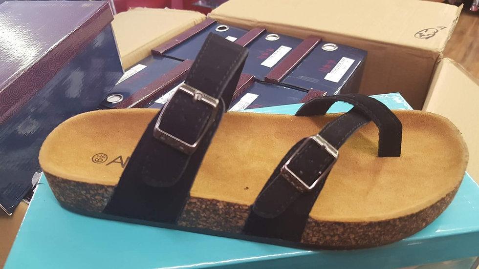 Nubuck style strappy sandal