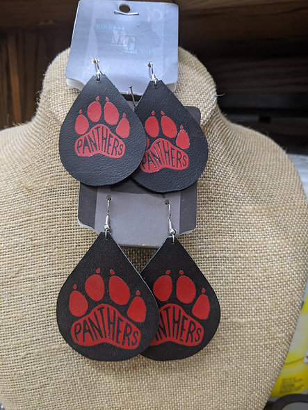 Small or Large leather panther earrings