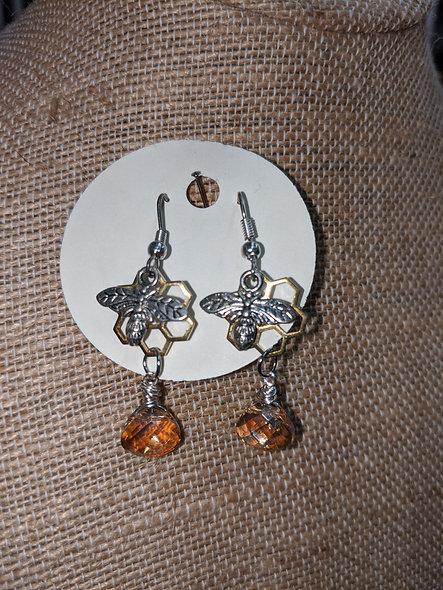 #1935 bee n hive earrings