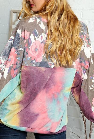 Haptics floral tie dye