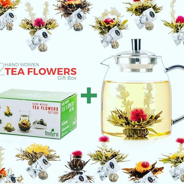 Handwoven tea flowers box of 12