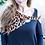 Thumbnail: Haptics leopard open twist collar
