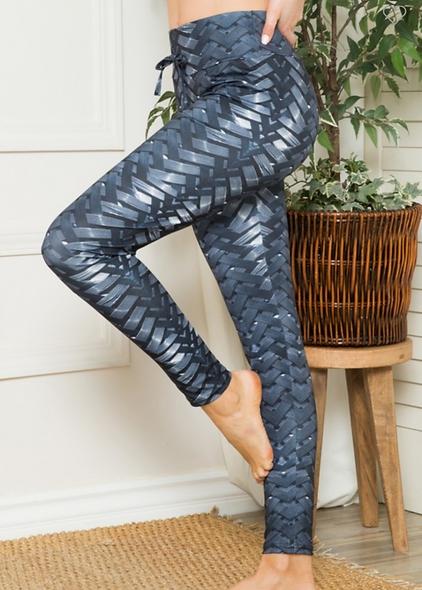 Weaved pattern leggings
