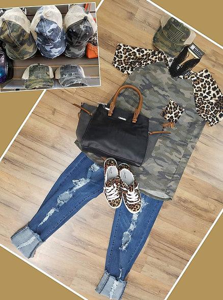 Heimish army/ leopard sleeve