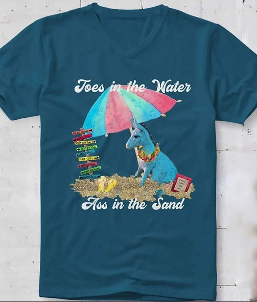 Ass in the water Bella canvas tee