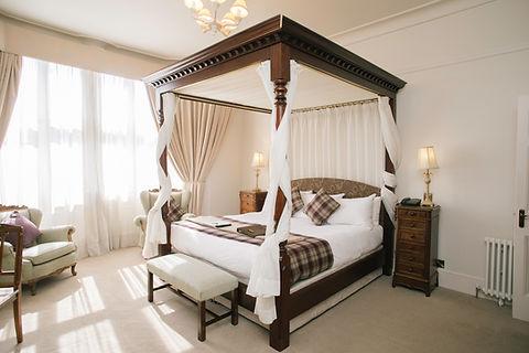 The Falcon Hotel Uppingham in Rutland Honeymoon Suite Bedroom