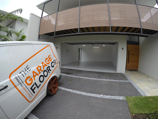 Noosaville Garage Epoxy Floors transforming oil stained and cracked concrete