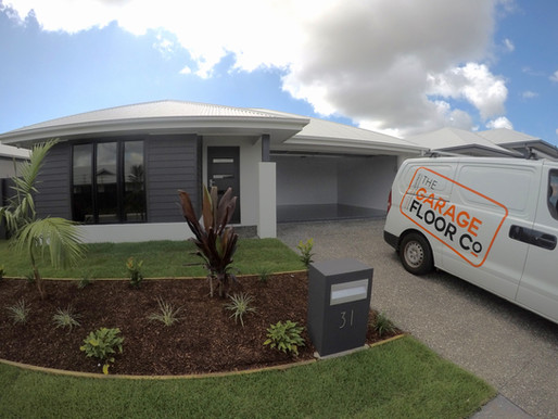 Garage Epoxy Floors - Pelican Waters Transforming Oil Stained Garage Floors
