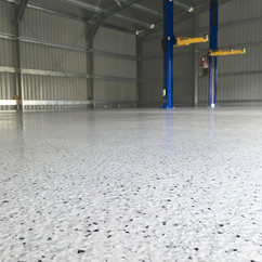 Commercial shed Narangba epoxy flooring