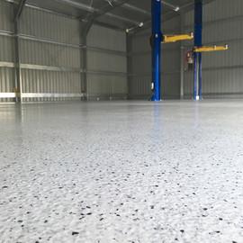 Commercial shed Narangba epoxy flooring