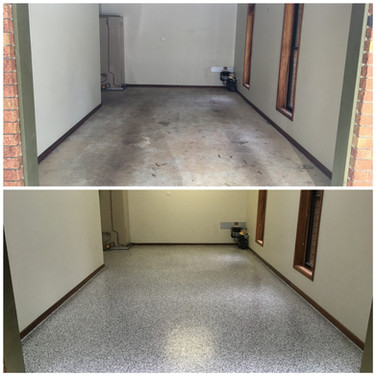Ilkey Single garage epoxy flooring