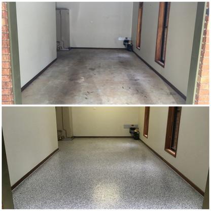 Ilkey Single garage epoxy flooring