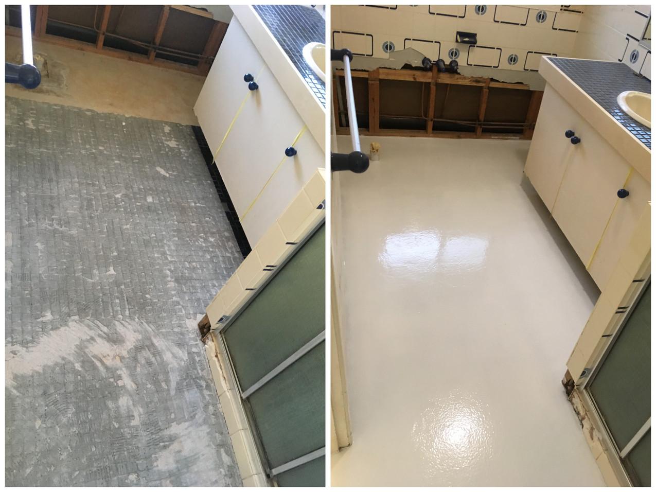 Buderim epoxy floor bathroom