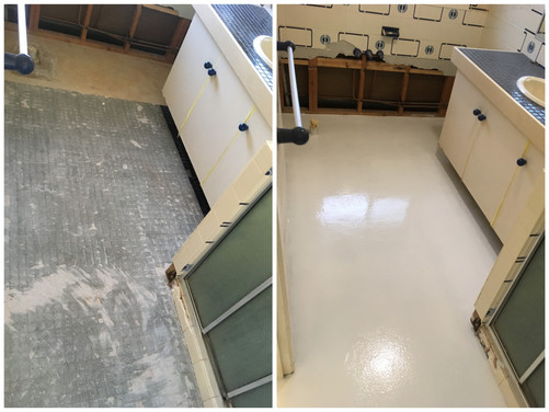 Buderim epoxy floor bathroom