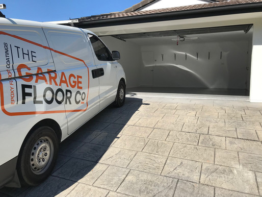 Pelican Waters Epoxy Flooring   Transforming tired stained garage floors with hard wearing coatings
