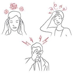 Illustration af hovedpine