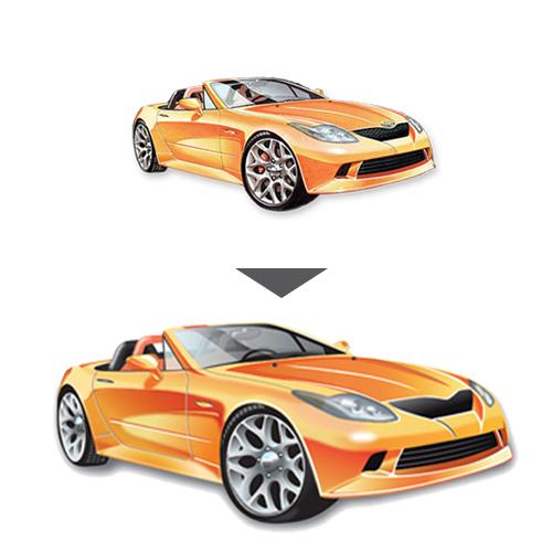 Rentegning af lavtopløslig bil