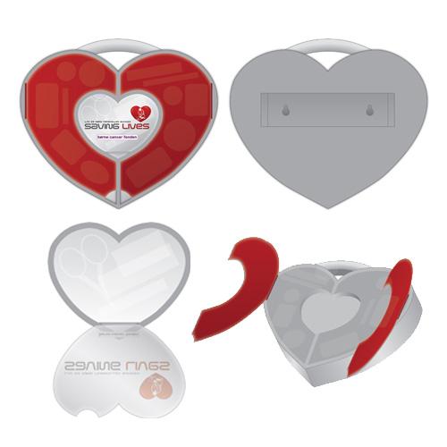 Hjerte produkttegning