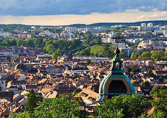 Visão panorâmica da cidade de Besançon