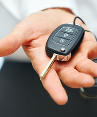 lost car key replacement in palm of hand