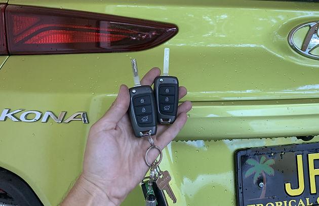 replacement transponder car keys for green Kona