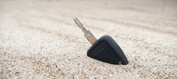 smart car key replacement in sand