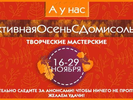 """Активная осень с """"Домисолькой"""" 4 сезон."""