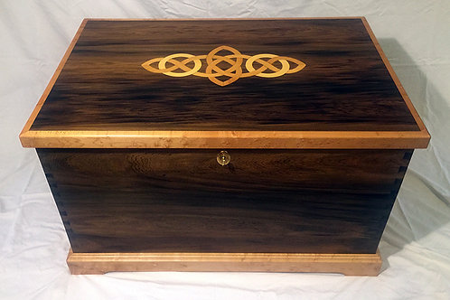 "Century Old Black Cypress ""Celtic Knot"" Chest"