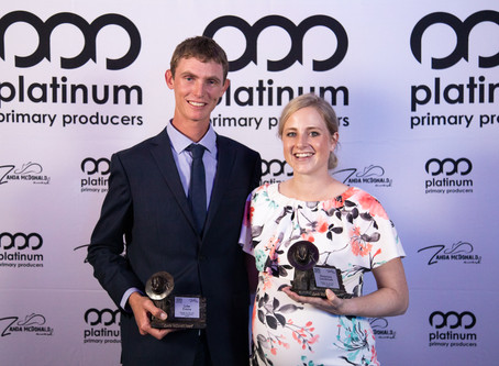 Two young leaders take out prize in top Australasian agri-business award