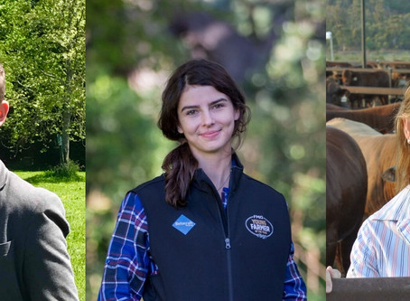 Three young leaders up for Australasian agri-business award