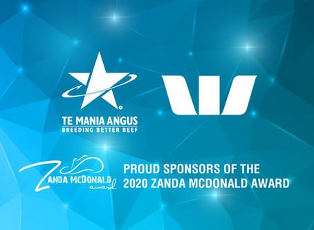 Westpac and Te Mania Angus announced as major sponsors of The Zanda McDonald Award