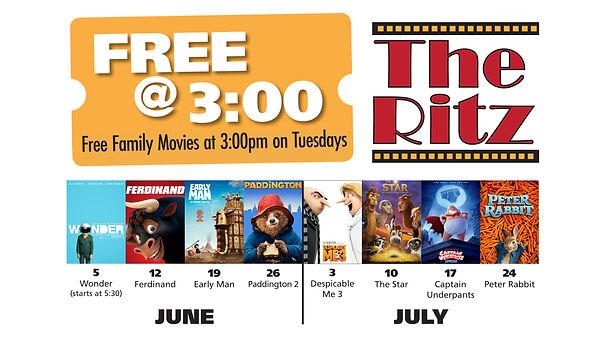 Free _ 3 summer movie flat panel ad, 201
