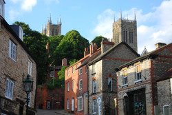 Early evening view of Lincoln Cathedral,