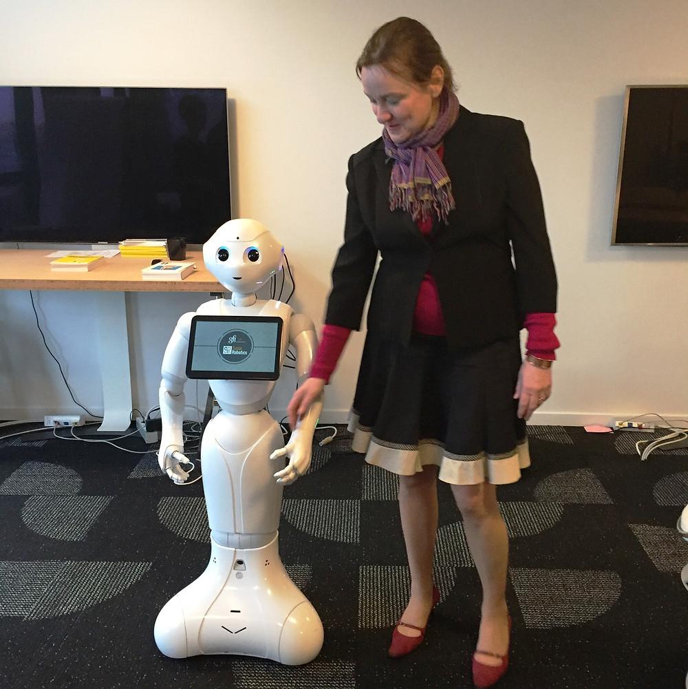 Avec le robot Pepper
