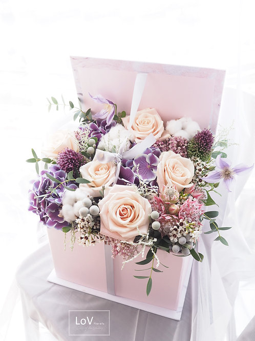 Flower Box - Champagne Lilac