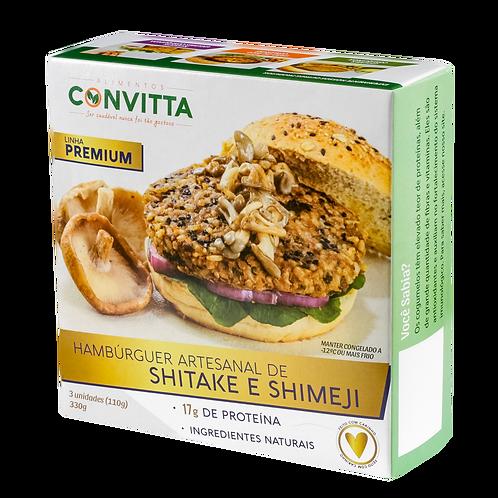 Hambúrguer de Shitake e Shimeji