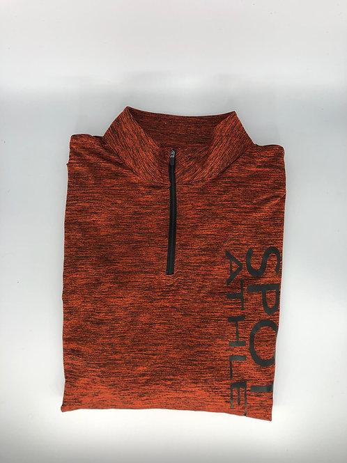 Men 1/4 zip dri-fit fitness long sleeve shirt