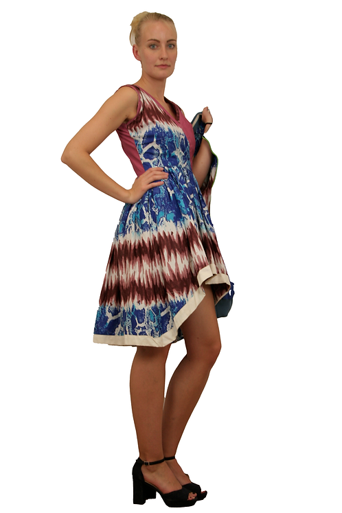 Kleid `Blue Croco´