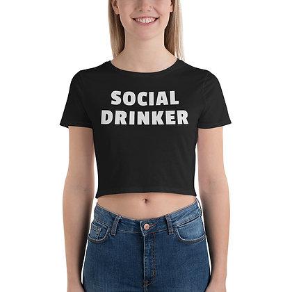 Social Drinker Crop Tee