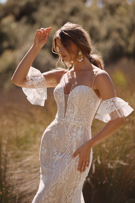 CAYDEN ML20045 FULL LENGTH 3D AND EMBROIDERED LACE GOWN WITH DEEP PLUNGING SWEETHEART NECKLINE SPAGHETTI STRAPS DETACHABLE MATCHING SLEEVES INCLUDED ZIPPER CLOSURE WEDDING DRESS MADI LANE BRIDAL 2.jpg