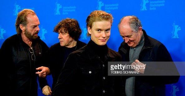 Hugo Weaving, Stephen Rae Freddie Fox and Jim Broadbent at the Berlin Film Festival
