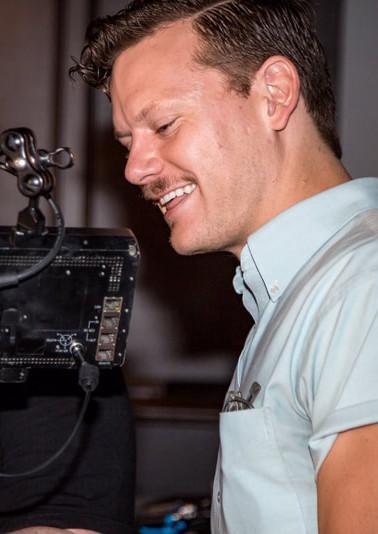 Matthew with cinematographer Kyle Krupinski.