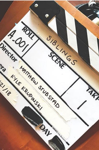 The slate from the set of SIBLINGS.