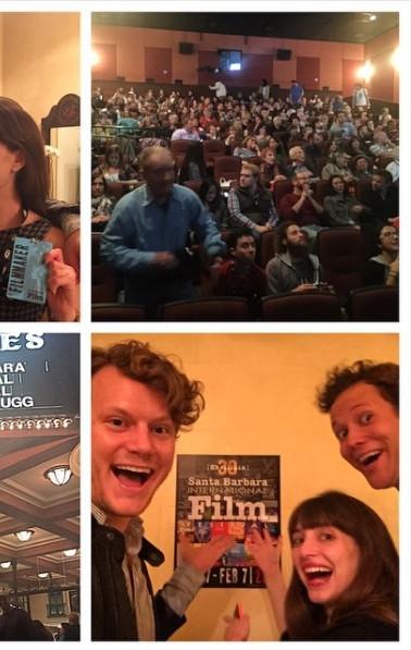 Photos from the Santa Barbara International Film Festival, where Stubstad's film DATING STRANGERS premiered.