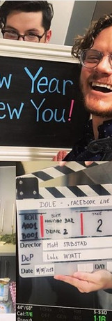 Matthew directing the Dole holiday cooking show for Socialtyze.