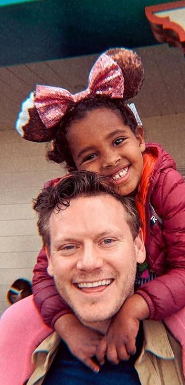 Matthew and his niece at Disneyland.