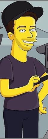 STUBSTAD as a Simpson's character.
