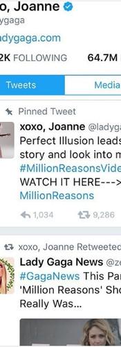 LADY GAGA retweeting the Million REasons parody video Stubstad directed.