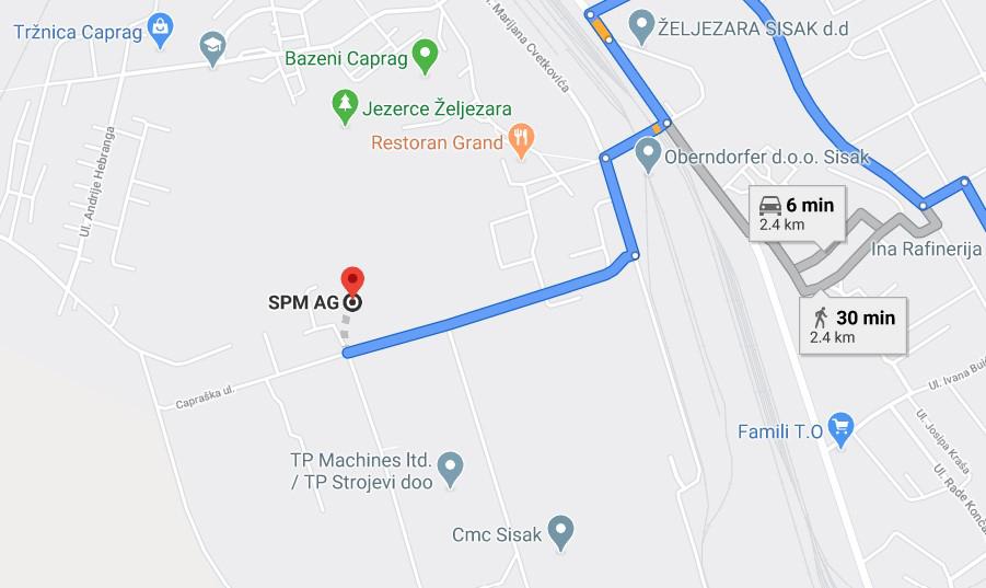 SPM Sisak Location