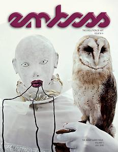 emboss magazine, art magazine, ralph paquin, evolution of art, abstract art, abstract sculpture, featured art, morpheus, large sculpture, publication, article